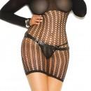 Elegant Moments Vivace Lingerie Crochet Long Sleeve Mini Dress with Hood