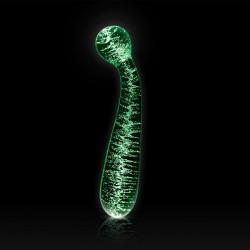 NS Novelties Firefly Glass G-Spot Glow-In-The-Dark Wand Dildo