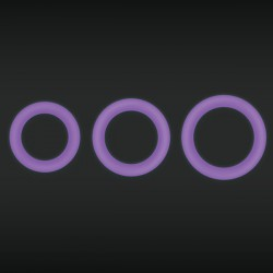 NS Novelties Firefly Halo Glow-In-The-Dark Silicone Cock Ring (Purple)